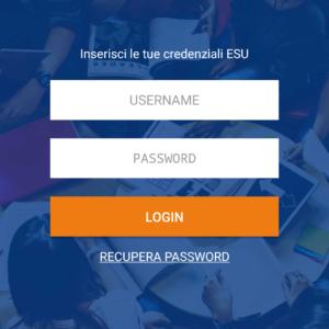 Login ESU app